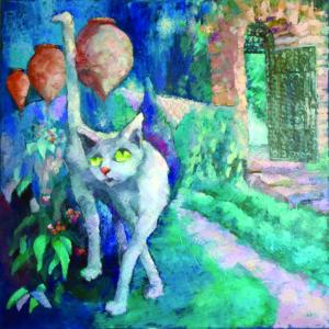"""Ana-Maria Ovadiuc, ,,Pisica de la Balcic"""", ulei pe pânză, 60 x 60"""