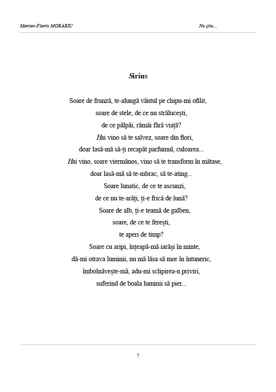 Florin Morariu Nu stiu pg 7