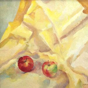 AMO, două mere, 50 x 50 , 2020